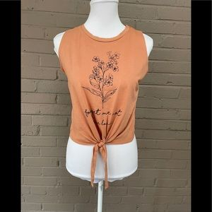 French Pastry Forget me not tie front top